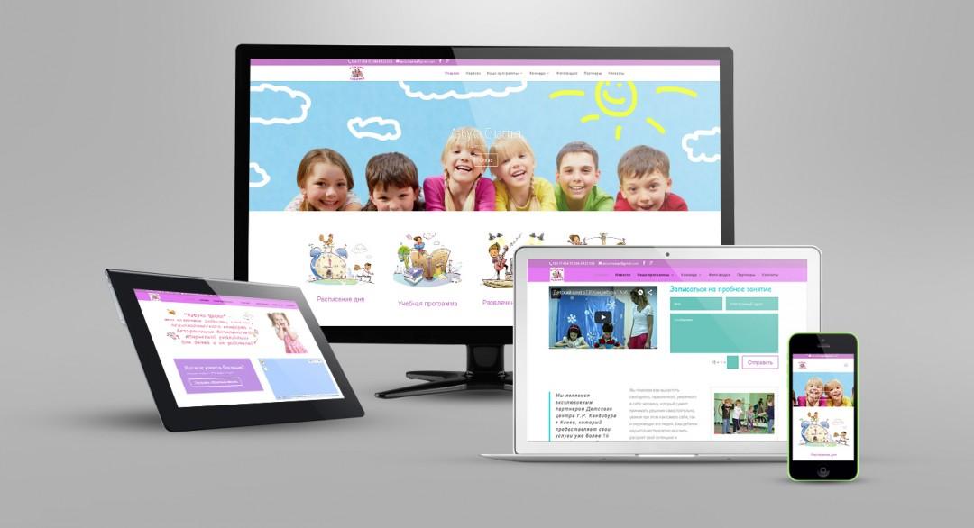 Сайт Happyabc.com.ua адаптированный для всех мобильных устройств.