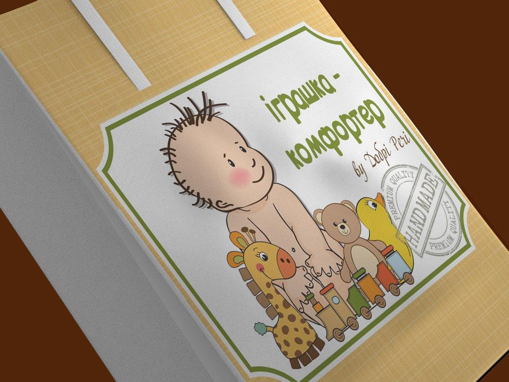 """Этикетка для детской игрушки от ТМ """"Добрі речі"""""""